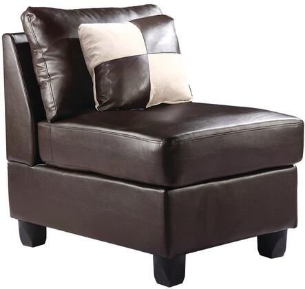 Glory Furniture G645AC Bycast Leather  in Cappuccino