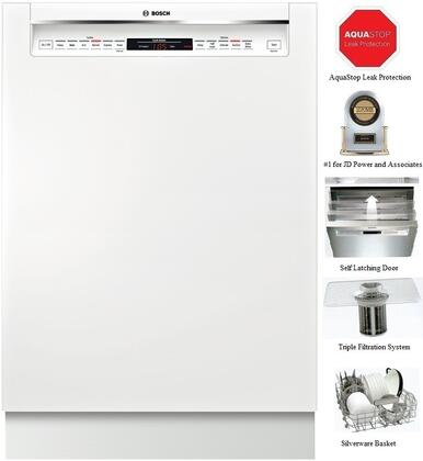"""Bosch SHE68T52UC 24"""" 800 Series Built In Full Console Dishwasher  Appliances Connection"""