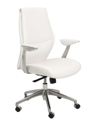 """Euro Style 00473WHT 26.75"""" Modern Office Chair"""