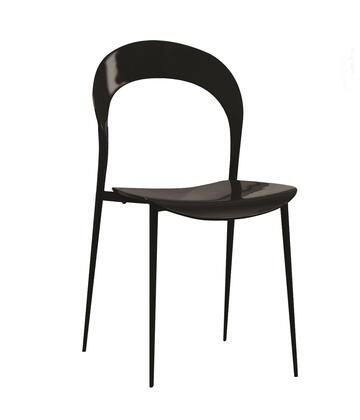 "Casabianca Rider Collection CB-899 35"" Dining Chair with Open Back Design, MDF Seat and Steel Legs in"