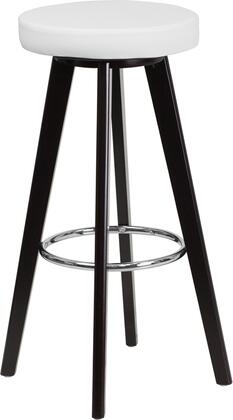 Flash Furniture CH152601WHVYGG Trenton Series Residential Vinyl Upholstered Bar Stool