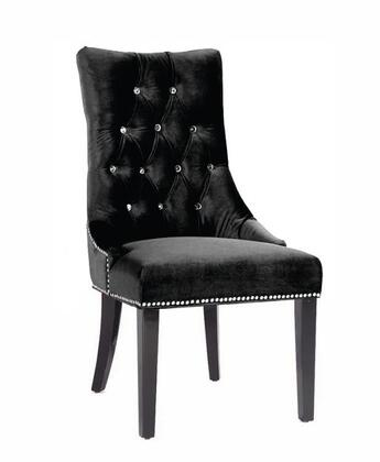 Armen Living LCF024TUSI Carlyle Side Chair with Button-tufted Detail in