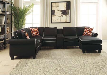 Acme Furniture 54240414243 Kelliava Series Stationary Fabric Sofa