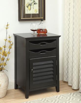 """Acme Furniture Holland 9713 20"""" Wine Cabinet with 2 Drawers, 1 Shutter Door, Wine Bottle Holder, MDF and Hardwood Legs in"""