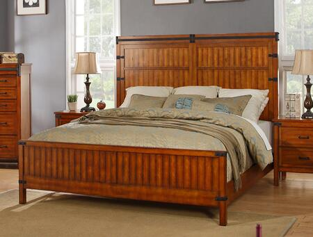 Legends Furniture Industrial Collection ZIND-700BED Bed in Chestnut Finish