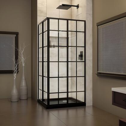 DreamLine French Cornerview Black Shower Base