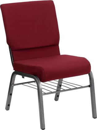 Flash Furniture XUCH60096BYSILVBASGG Hercules Series Armless Fabric Metal Frame Accent Chair