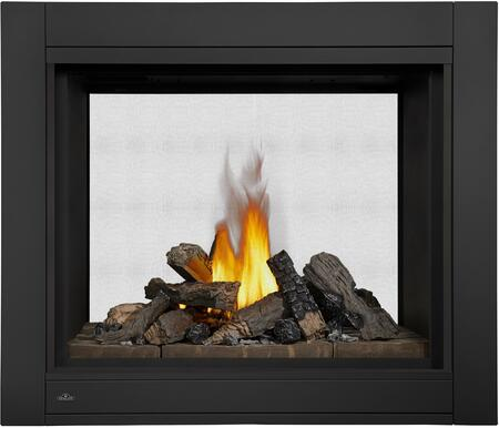 Napoleon BHD Ascent Multi-View Direct Vent Gas Fireplace Up to 30,000 with Log Burner, Linear Topaz Glass Burner or Designer Fire Cradle complete with Exclusive Topaz Glass