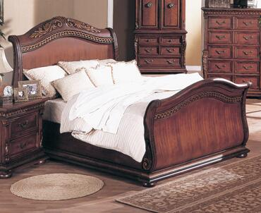 Yuan Tai 8531K Florence Series  Sleigh Bed