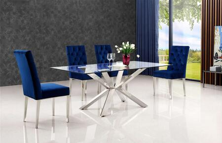 Meridian MER5PCRECDH4BLUKIT1 Juno Dining Room Sets