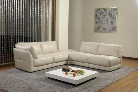 VIG Furniture VGKN8085  Sofa and Chaise Leather Sofa