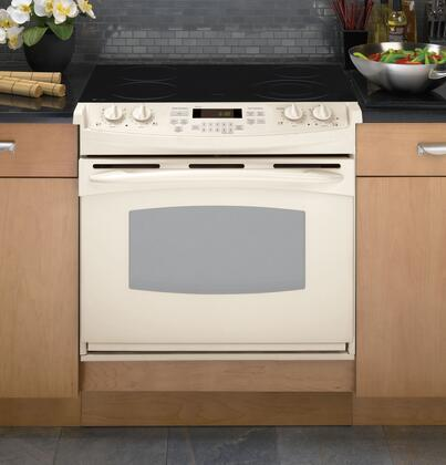 GE PD900DPCC Profile Series Slide-in Electric Range with Smoothtop Cooktop, 4.4 cu. ft. Primary Oven Capacity, in Bisque