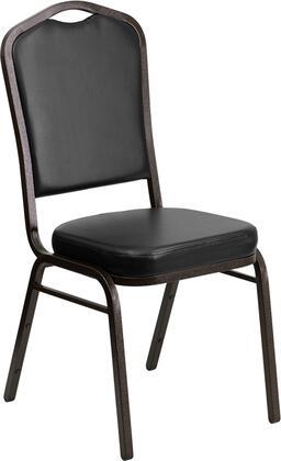 Flash Furniture FDC01GOLDVEINBKVYGG Contemporary Vinyl Metal Frame Dining Room Chair