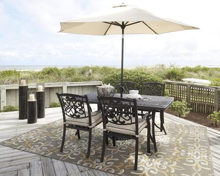 Signature Design by Ashley P456RECT4CU Burnella Patio Sets