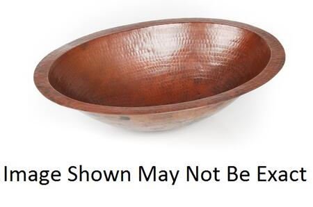 D'Vontz LV1001L15SC Plain Hammered Copper Oval Undermount Sink With 77% Recycled Copper, 99% Pure Copper &