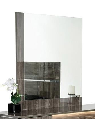 """VIG Furniture Modrest Picasso Collection VGACPICASSO-MIR 39"""" x 41"""" Italian Modern Mirror with Lacquer Finish and L-Shaped Frame Design in"""