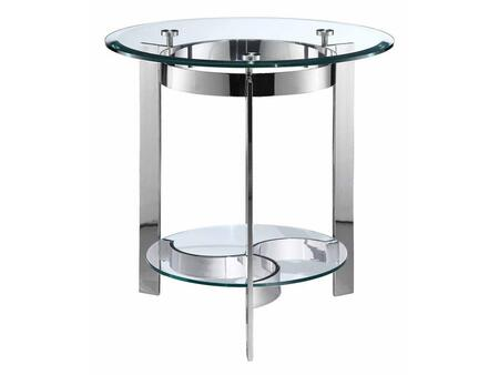 Stein World 410023 Mercury Series Contemporary Round End Table