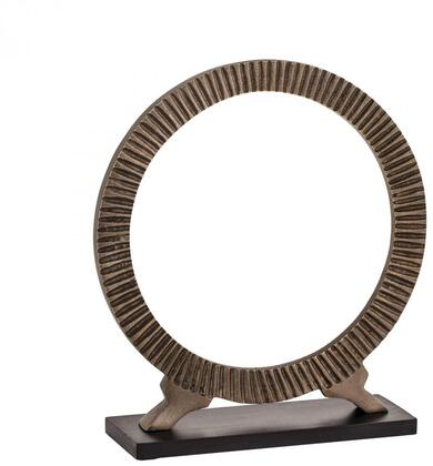 Sterling Accessory Collection Hoops with Oval Shape, Rectangular Base and Aluminum Material in Antique Black Finish