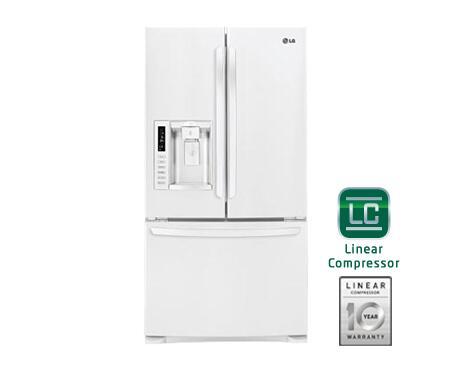 Lg Lfx28978sw French Door Refrigerator In White