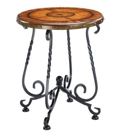 Gail's Accents 20017ET Mirage Series Contemporary Round End Table
