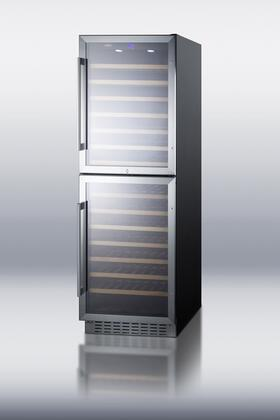 """Summit SWC1875B 23.63"""" Freestanding Wine Cooler 