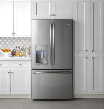 Ge Profile Pfe28kskss 36 Inch French Door Refrigerator In