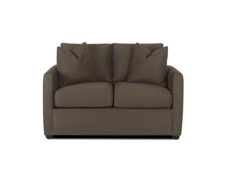 Klaussner JACOBSLS Jacobs Series Microfiber Stationary with Wood Frame Loveseat in Bronze |Appliances Connection