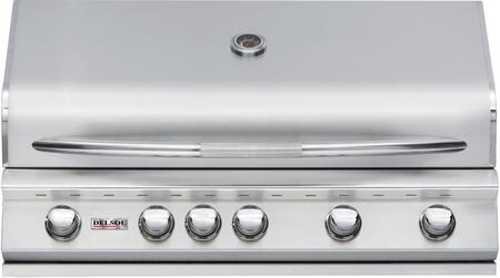 "Delsol Delta DSBQ40RN 40"" Natural Gas Built-In Grill with 52500 BTU Capacity and Infrared Rotisserie Burner in Stainless Steel"