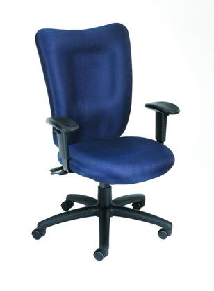 Boss B2007 High-Back Task Chair With 3 Paddle Mechanism, Adjustable Height Armrests, Adjustable Tilt- Tension Control, Back Angle Lock, Seat and Back Height Adjustment