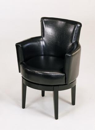 Armen Living LC247ARSWX 247 Leather Club Chair with 360 degree Swivel and California Fire Retardant (CFR) Rated in