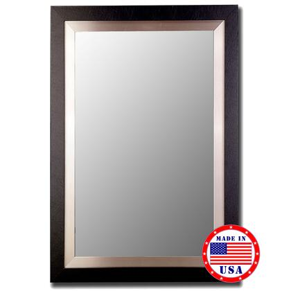 Hitchcock Butterfield 25760X Cameo Beveled Mirror In Black With Silver Inlay