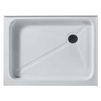 "Vigo VG06019WHT3648 36"" x 48"" Rectangular Shower Tray in White with X Drain"