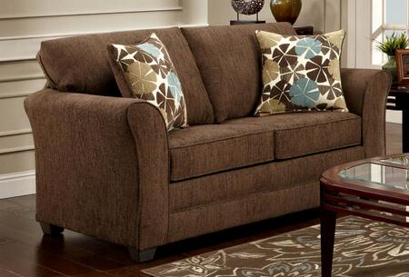 Chelsea Home Furniture 3250LCF Fabric Stationary with Wood Frame Loveseat