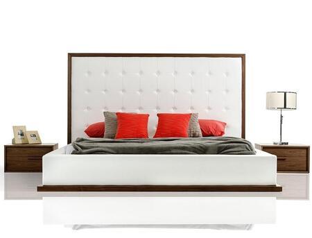 VIG Furniture VGKCGBK028WALQN Modrest Beth Queen Bedroom Set