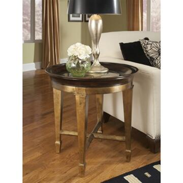 Ambella 04585900001 Traditional Round End Table