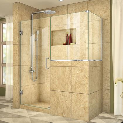 DreamLine UnidoorPlus Shower Door 39 30D 30BP 30RP 01