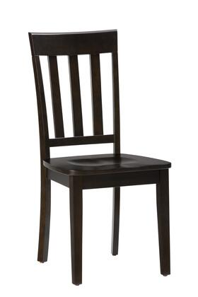 "Jofran Simplicity Collection X52319KD 38"" Slat Back Chair with Solid Rubberwood, Tapered Legs and Casual Style in"