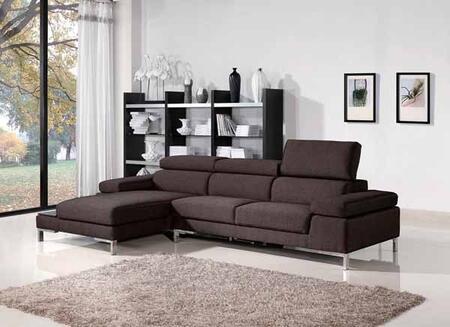 VIG Furniture VGMB1103  Sofa and Chaise Fabric Sofa