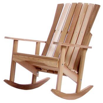 All Things Cedar RC22U  Cedar Frame Rocking Patio Arm Chair |Appliances Connection