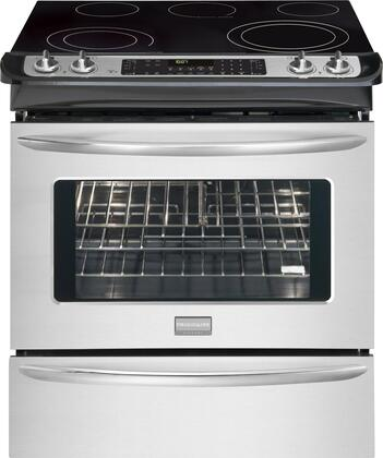 "Frigidaire FGES3065KF 30"" Gallery Series Slide-in Electric Range with Smoothtop Cooktop Warming 4.2 cu. ft. Primary Oven Capacity"