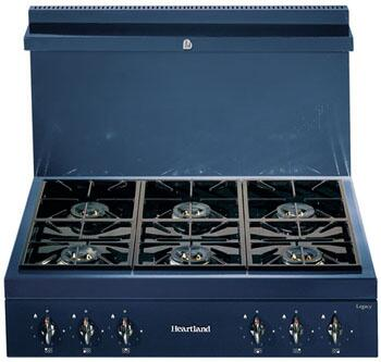 Heartland 382005NG  Gas Sealed Burner Style Cooktop, in Blue