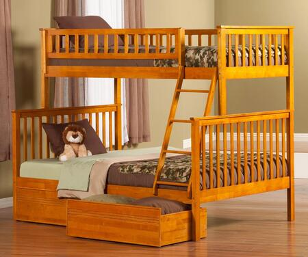 Atlantic Furniture AB56217  Twin over Full Size Bunk Bed