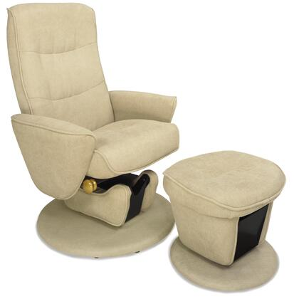 Mac Motion LAVAL34UPH Relax-R Series Fabric Wood Frame  Recliners