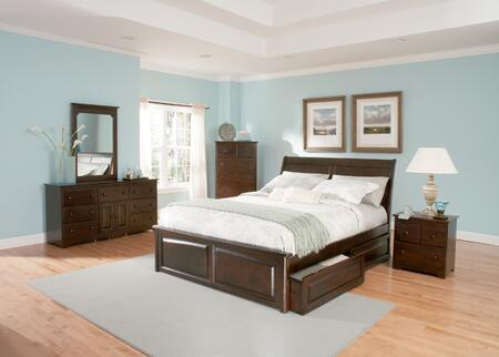 Atlantic Furniture BORRPLCKG Bordeaux Series  Bed