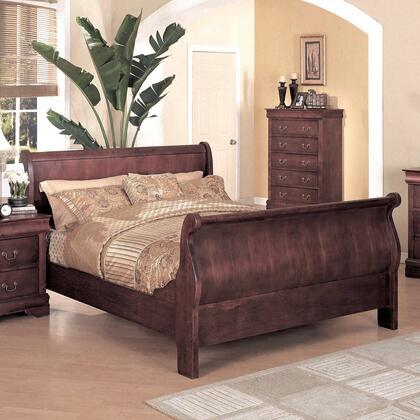 Yuan Tai 4702K Louis Philippe Series  King Size Sleigh Bed