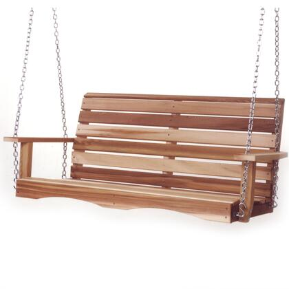 All Things Cedar PSXX Porch Swing with Hanging Chain, Western Red Cedar Construction and Hand Crafted