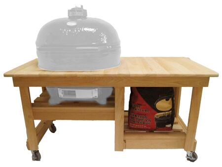 Primo PR61 Unfinished Cypress Counter Top Table and Ceramic Shoes Included for
