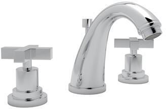 Rohl A1208XM Transitional Series Avanti Deck Mounted Lavatory Faucet with 1.2 GPM Flow Rate, Fixed Spout and Metal Cross Handles in