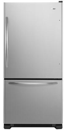 Amana ABB1924WED  Bottom Freezer Refrigerator with 18.5 cu. ft. Total Capacity 5.6 cu. ft. Freezer Capacity 4 Glass Shelves