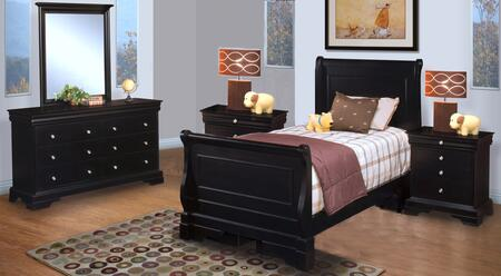 New Classic Home Furnishings 00013TYSBDMNN Belle Rose Twin B